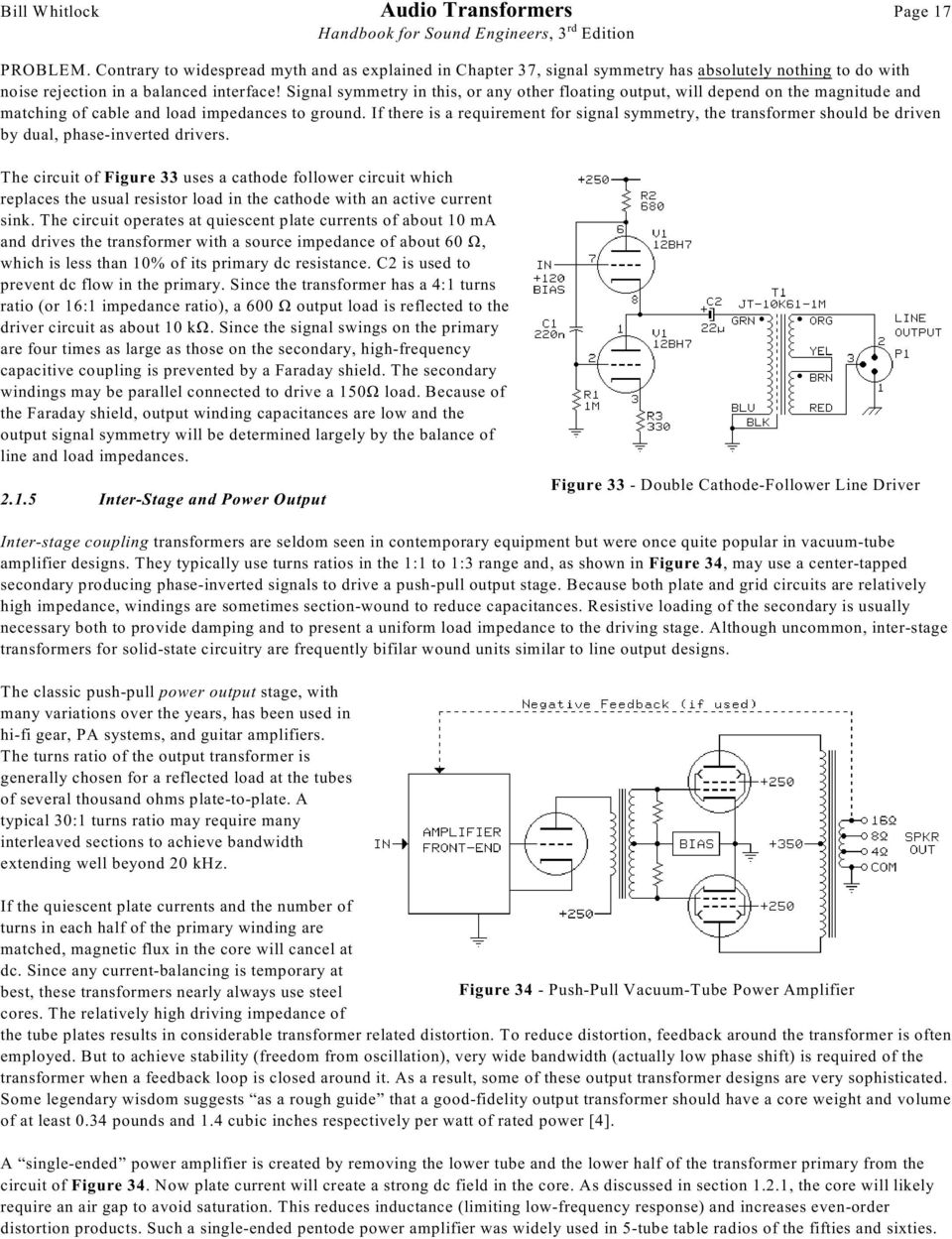 Audio Transformers By Bill Whitlock Jensen Inc Fig 2nd Simple Telephone Hybrid Circuit If There Is A Requirement For Signal Symmetry The Transformer Should Be Driven Dual