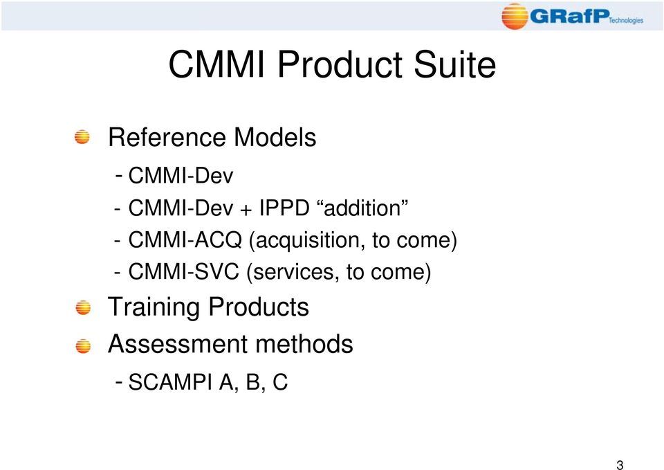 (acquisition, to come) - CMMI-SVC (services, to