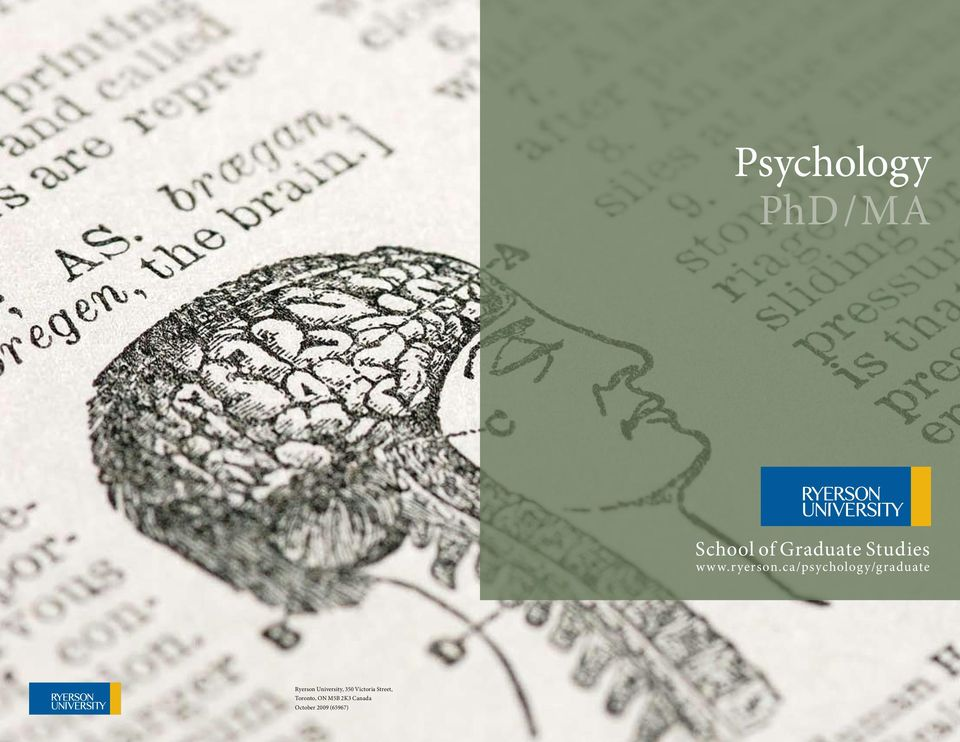 ca/psychology/graduate Ryerson University,