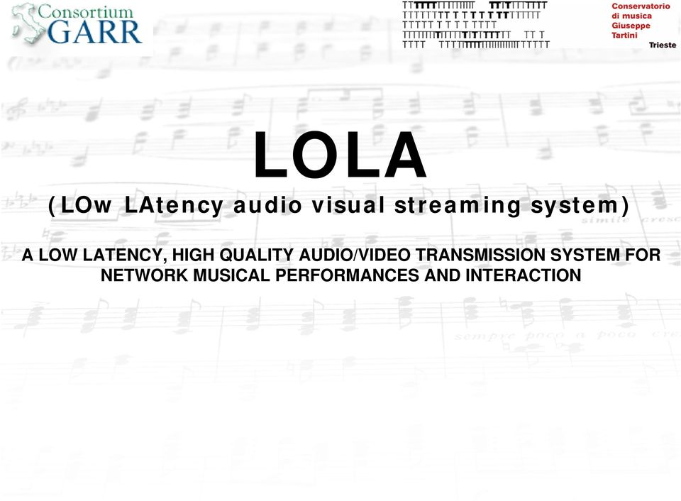 QUALITY AUDIO/VIDEO TRANSMISSION SYSTEM