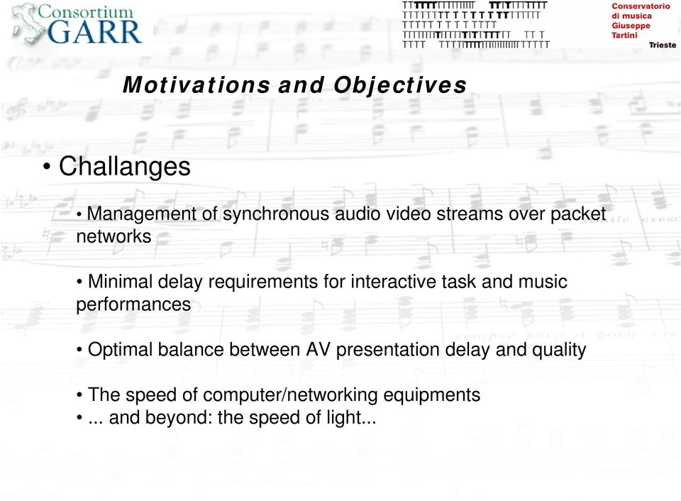 and music performances Optimal balance between AV presentation delay and