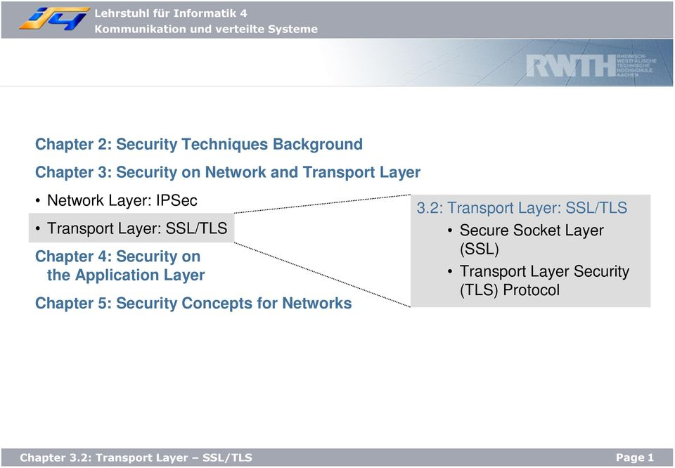 on the Application Layer Chapter 5: Security Concepts for Networks 3.