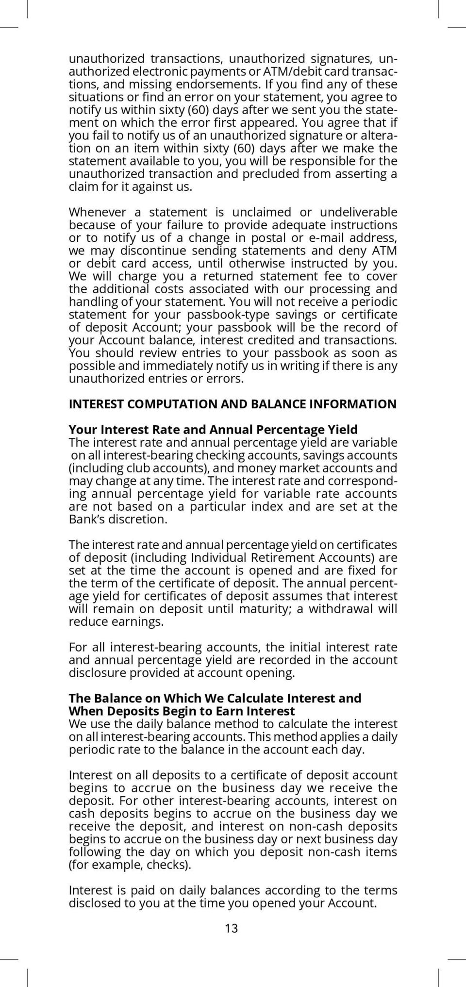 The Provident Bank Consumer Deposit Account Disclosures Pdf