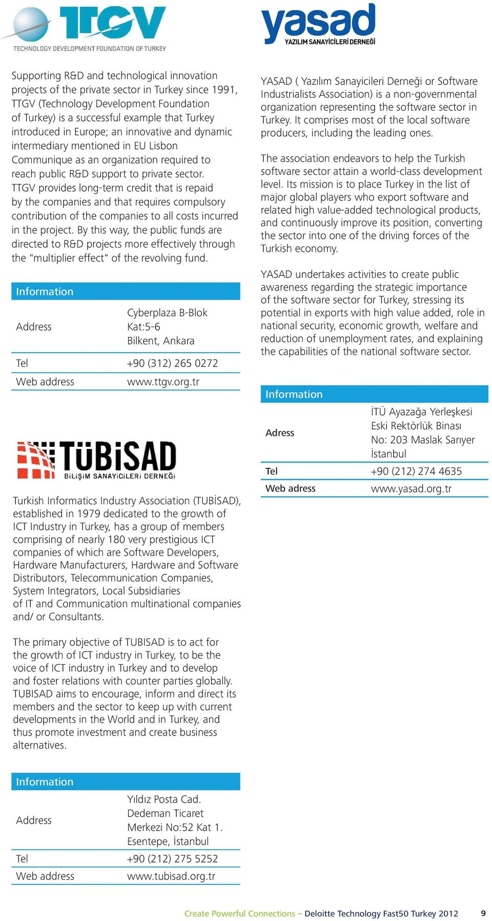 the is a private successful sector example in Turkey that since Turkey 1991, (TUBİSAD), Turkey.