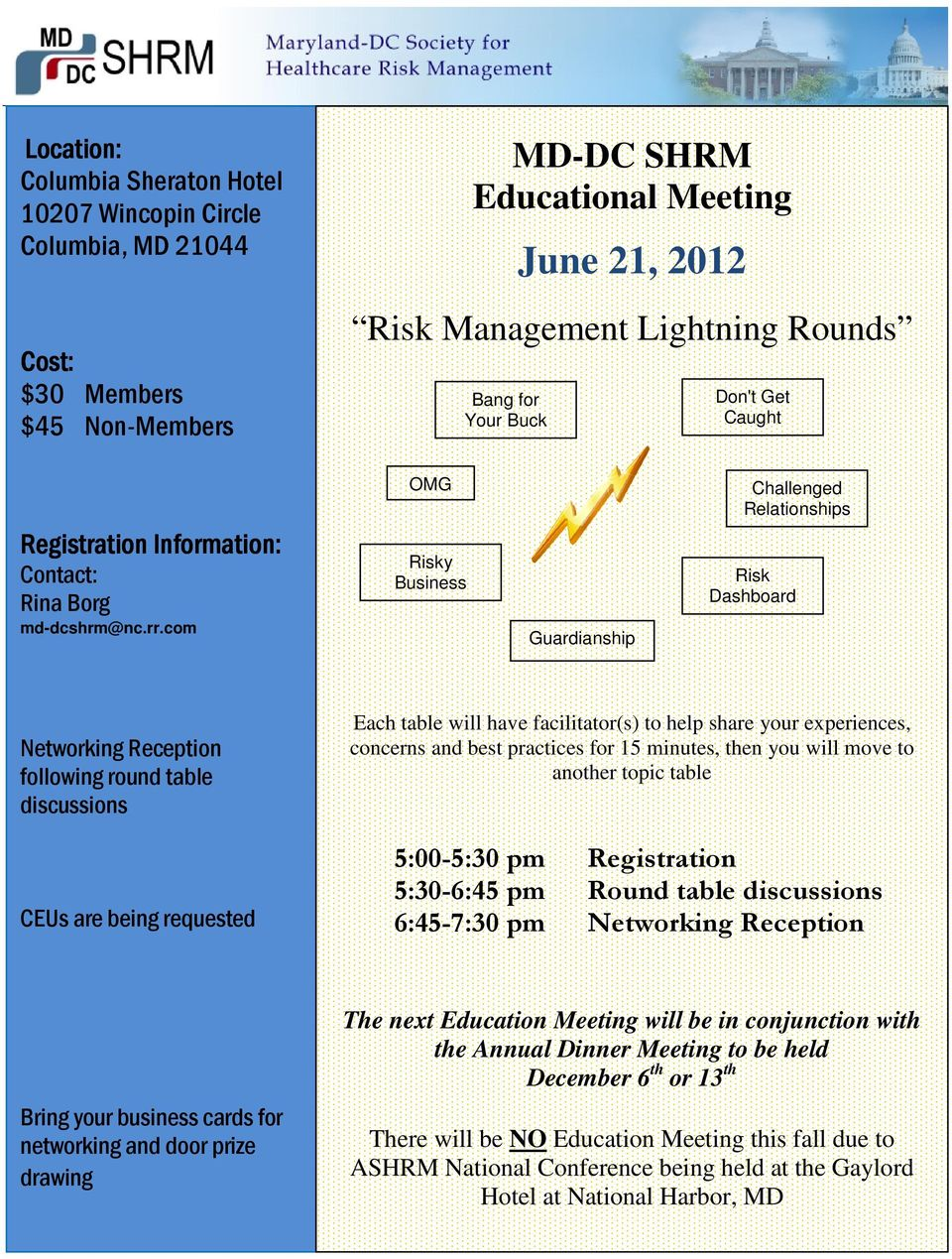 com OMG Risky Business Guardianship Challenged Relationships Risk Dashboard Networking Reception following round table discussions CEUs are being requested Each table will have facilitator(s) to help