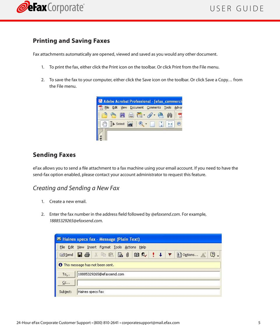 faxing efax corporate a guide for efax corporate users pdf sending faxes efax allows you to send a file attachment to a fax machine using your