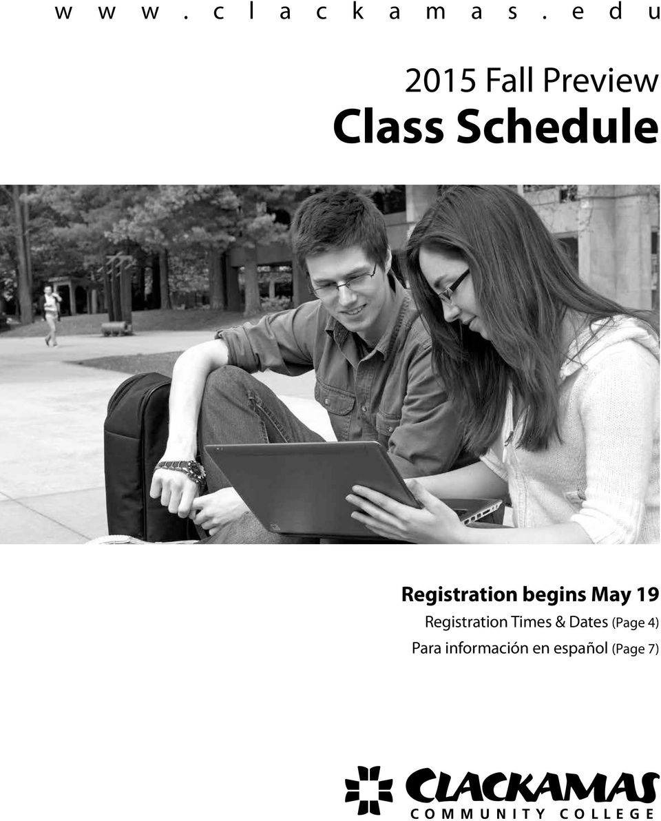 Registration begins May 19 Registration