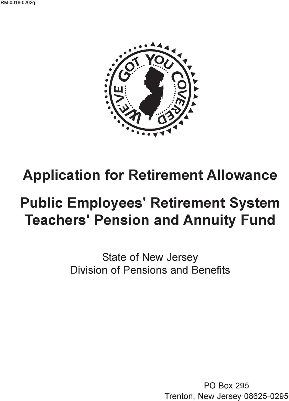 Annuity Fund State of New Jersey Division of