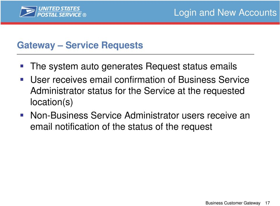 status for the Service at the requested location(s) Non-Business Service