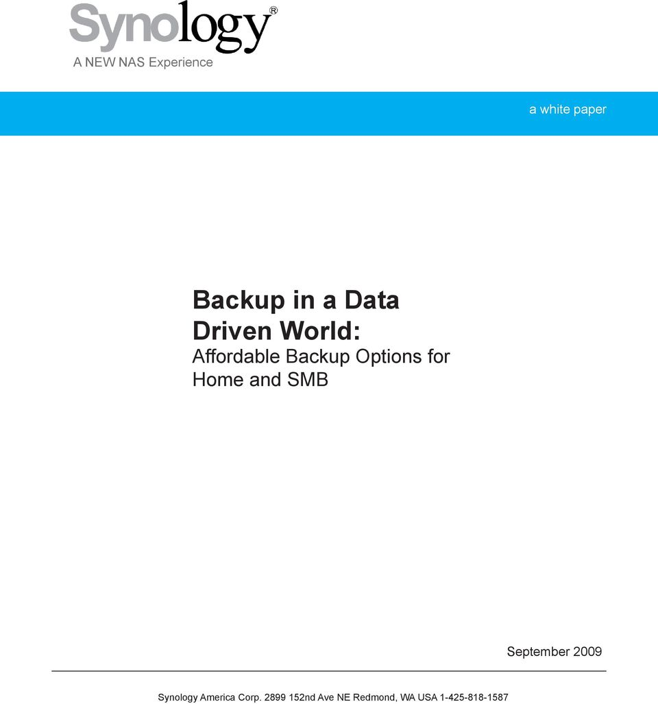 World: Affordable Backup