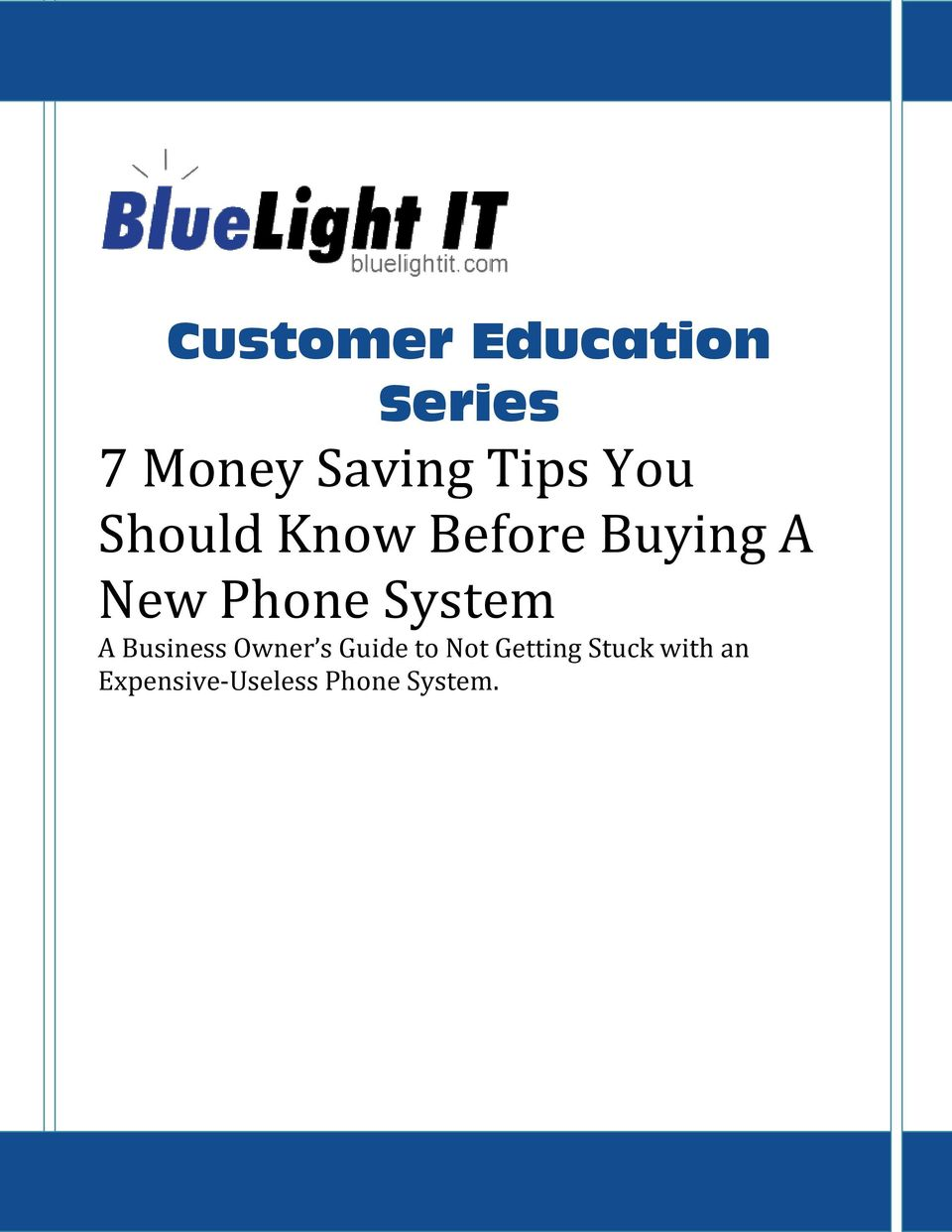 Phone System A Business Owner s Guide to Not