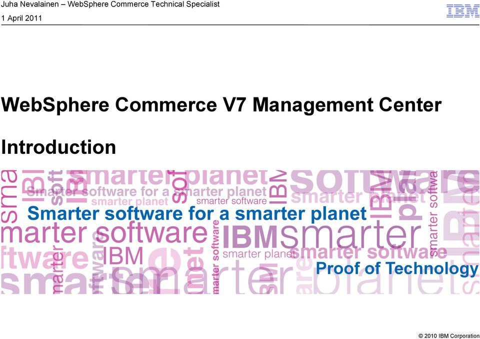 WebSphere Commerce V7 Management