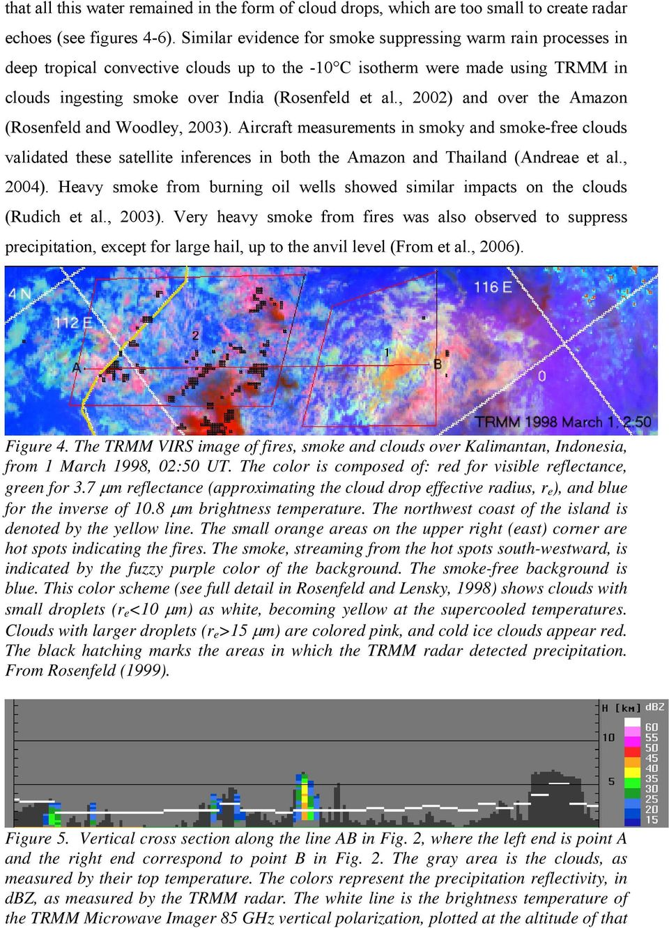 , 2002) and over the Amazon (Rosenfeld and Woodley, 2003). Aircraft measurements in smoky and smoke-free clouds validated these satellite inferences in both the Amazon and Thailand (Andreae et al.