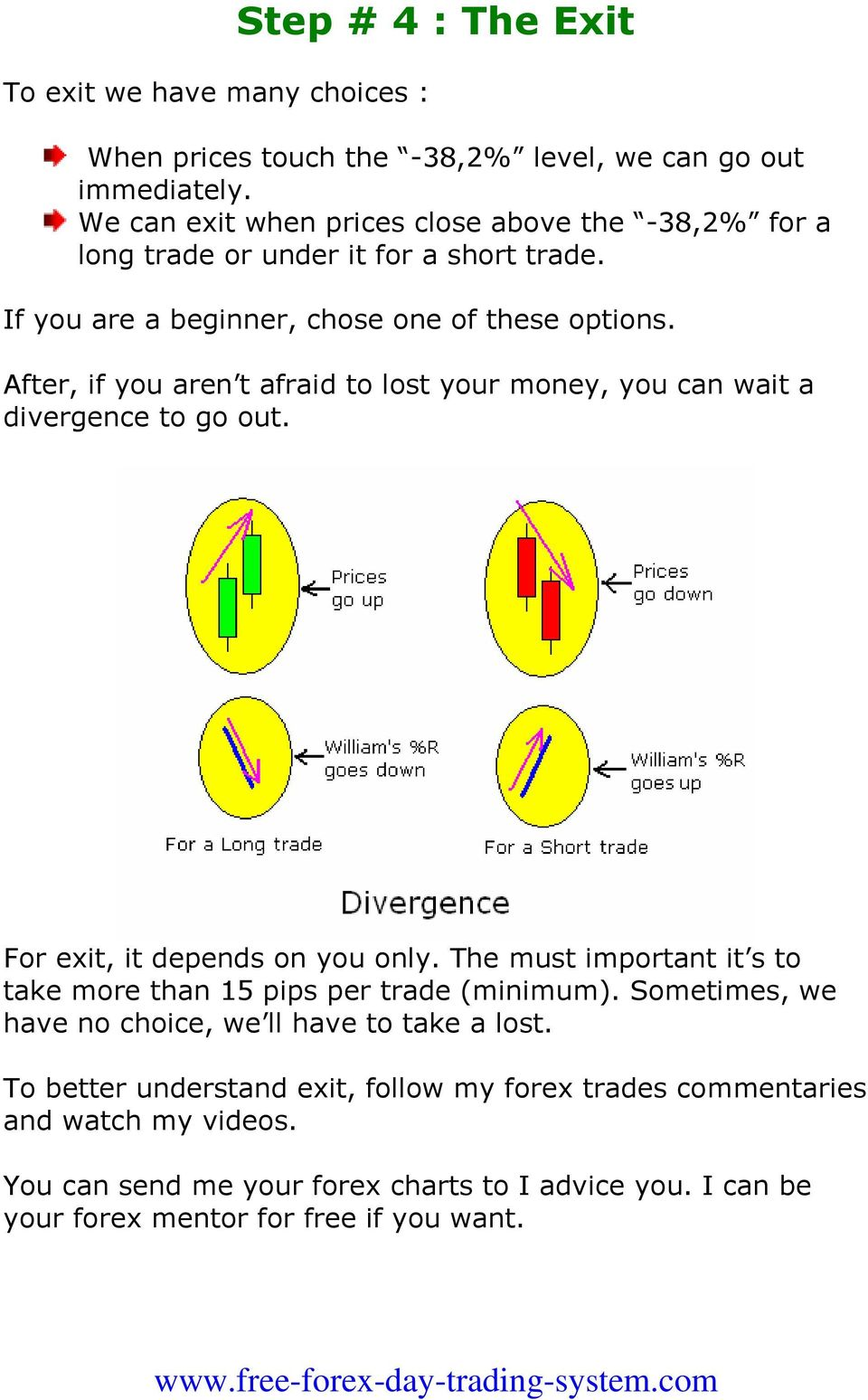 After, if you aren t afraid to lost your money, you can wait a divergence to go out. For exit, it depends on you only.