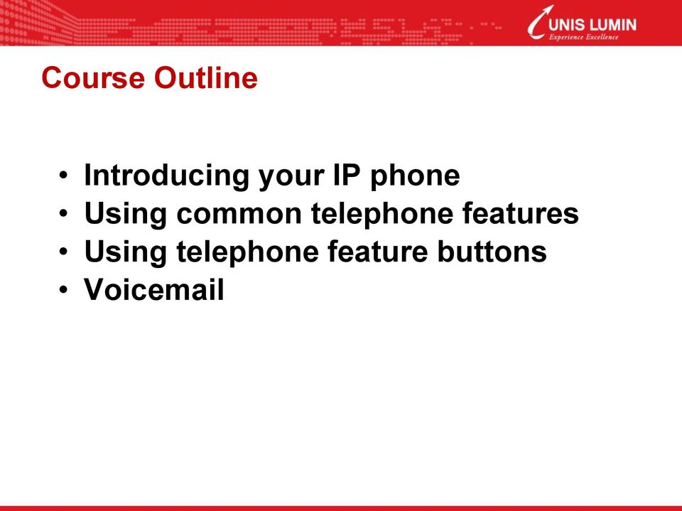 telephone features Using