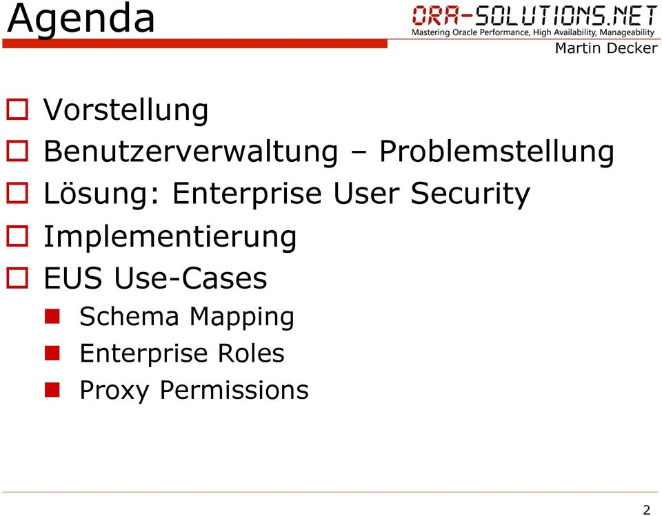 Security o Implementierung o Use-Cases n