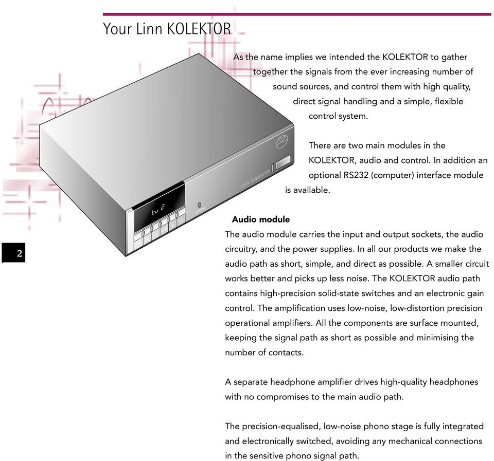 Linn Kolektor Preamplifier Owners Manual Pdf Meridian Audio Mpa Solid State Amplifier In Addition An Optional Rs232 Computer Interface Module Is Available The