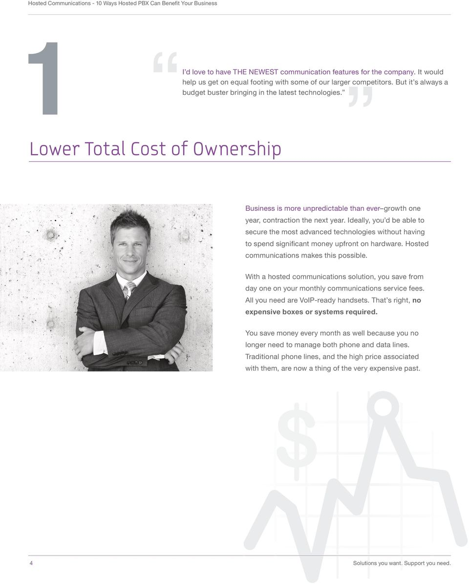 Lower Total Cost of Ownership Business is more unpredictable than ever growth one year, contraction the next year.