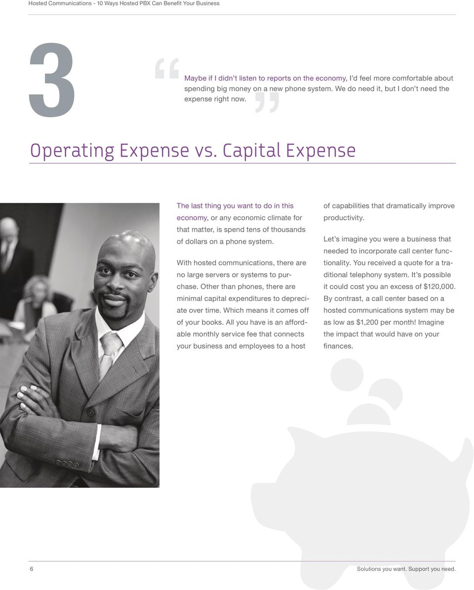 Capital Expense The last thing you want to do in this of capabilities that dramatically improve economy, or any economic climate for productivity.