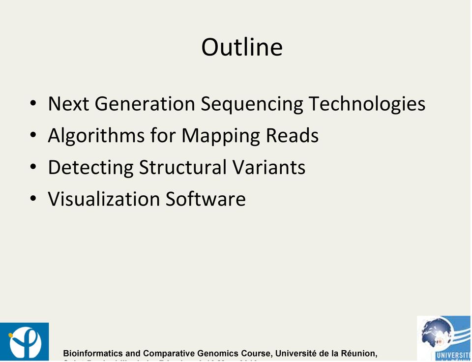Algorithms for Mapping Reads