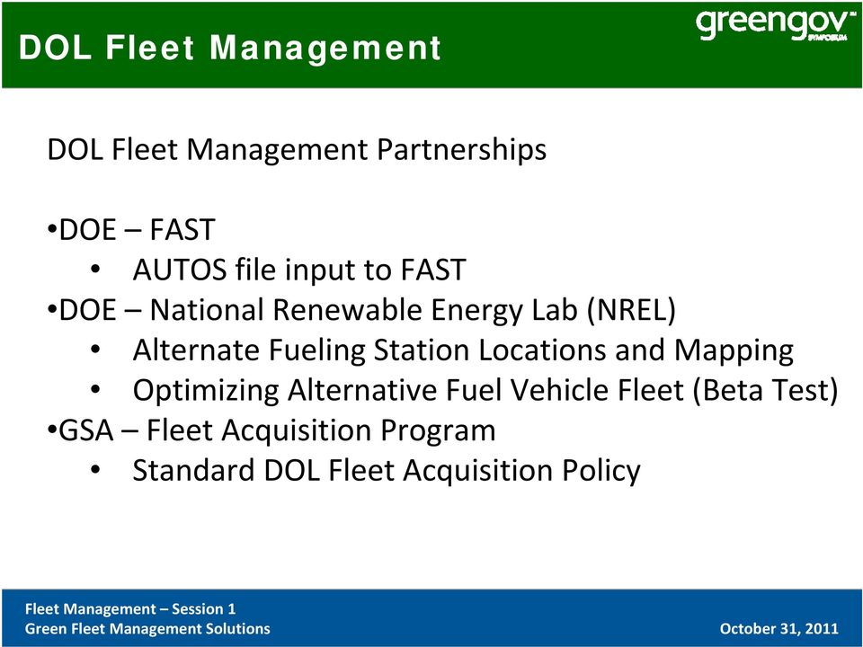 Fleet Management at US Department of Labor - PDF