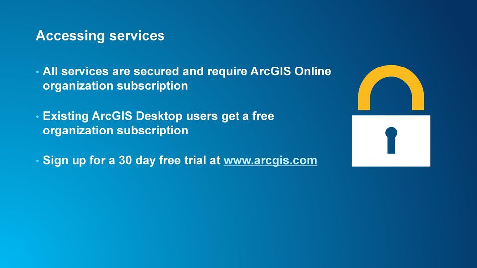 Existing ArcGIS Desktop users get a free