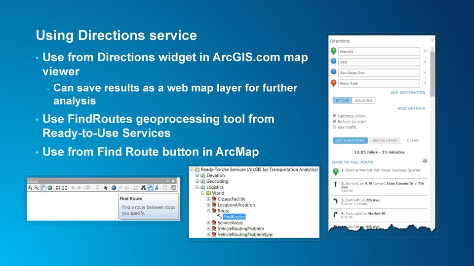 com map viewer - Can save results as a web map layer for