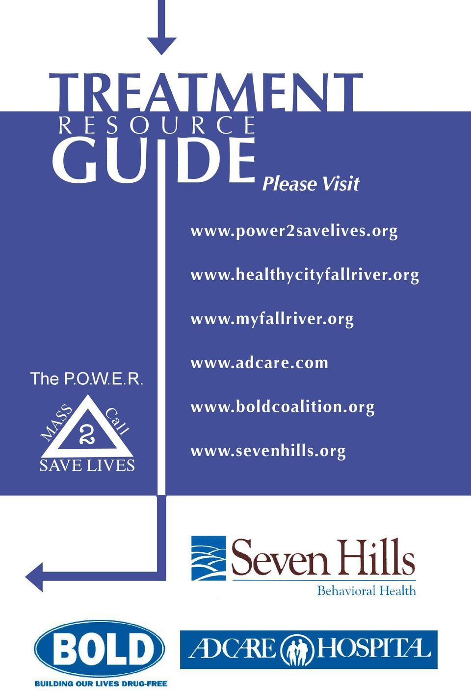 org The P.O.W.E.R. MASS Call SAVE LIVES www.adcare.