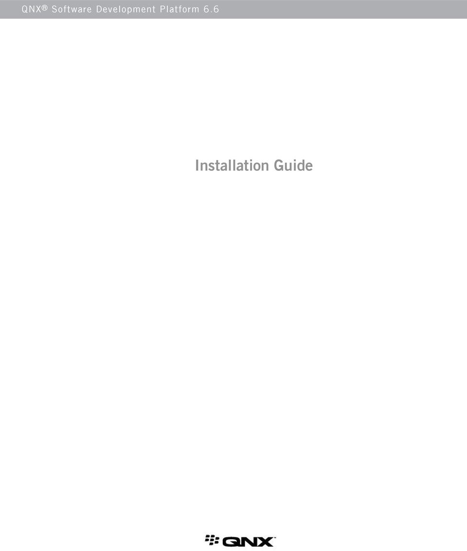 6  6 Installation Guide