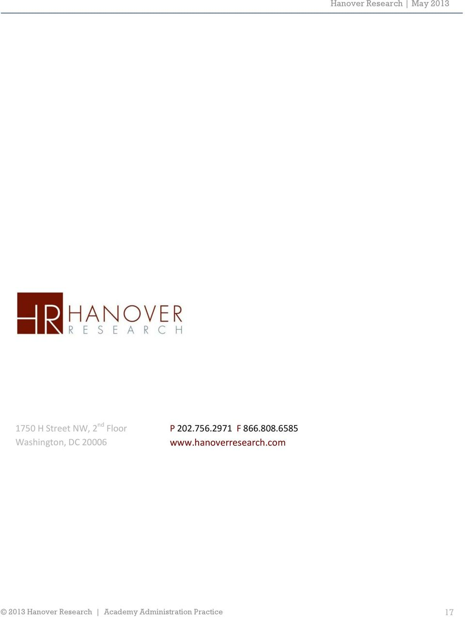 2971 F 866.808.6585 www.hanoverresearch.