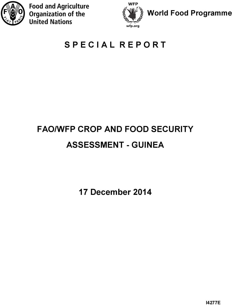 AND FOOD SECURITY ASSESSMENT -