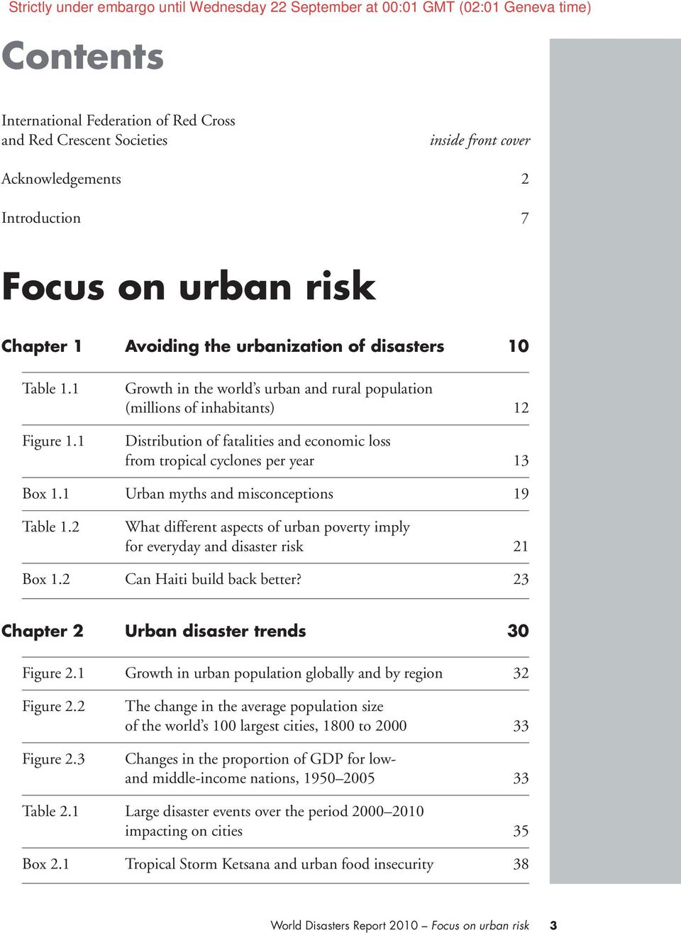 1 Urban myths and misconceptions 19 Table 1.2 What different aspects of urban poverty imply for everyday and disaster risk 21 Box 1.2 Can Haiti build back better?