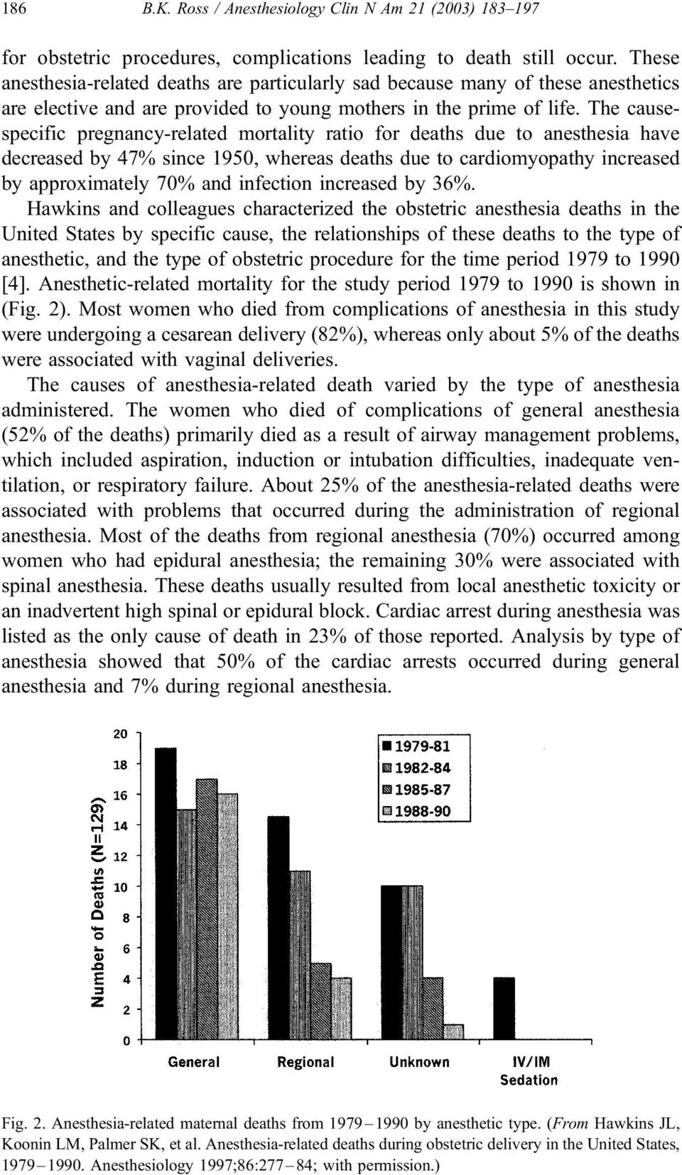 The causespecific pregnancy-related mortality ratio for deaths due to anesthesia have decreased by 47% since 1950, whereas deaths due to cardiomyopathy increased by approximately 70% and infection