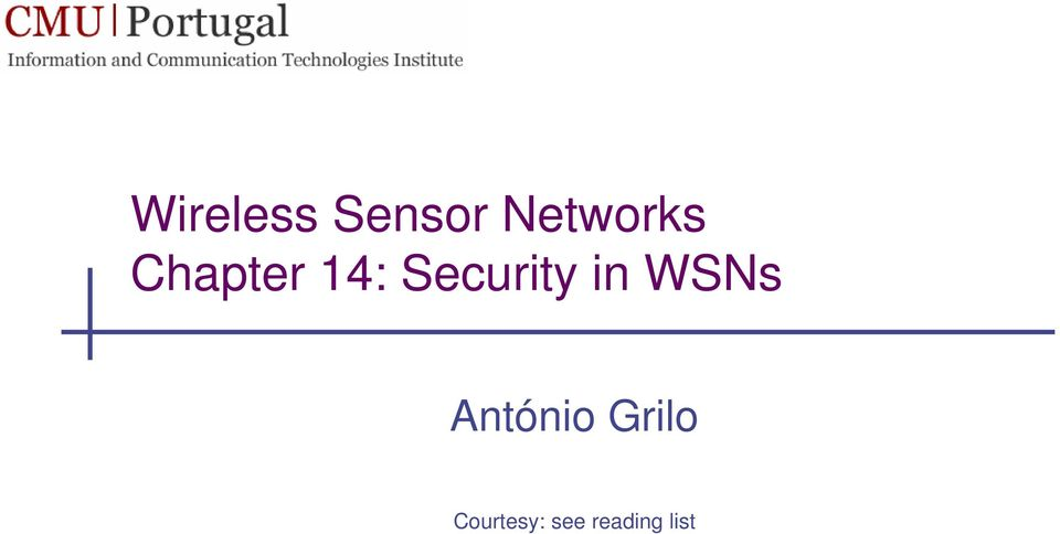 Security in WSNs