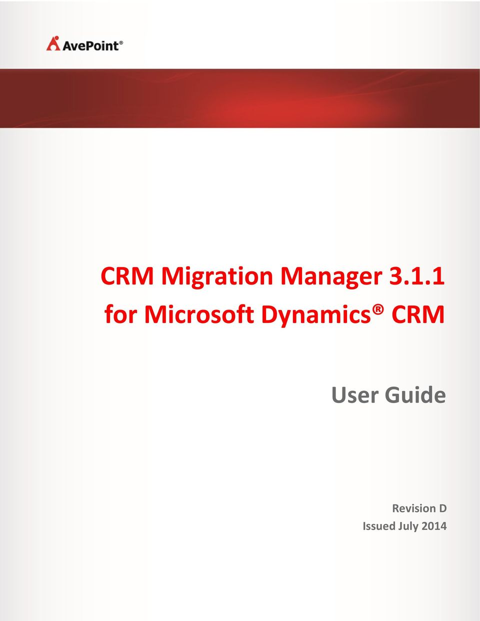 Dynamics CRM User Guide