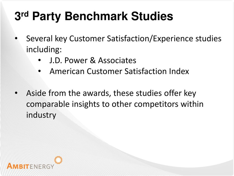Power & Associates American Customer Satisfaction Index Aside