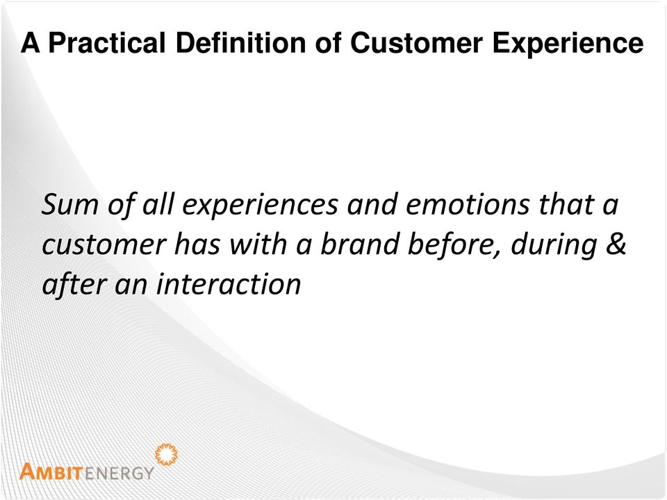 emotions that a customer has with a
