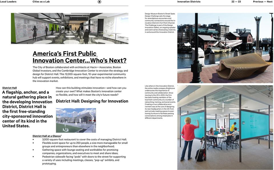 America s First Public Innovation Center Who s Next?