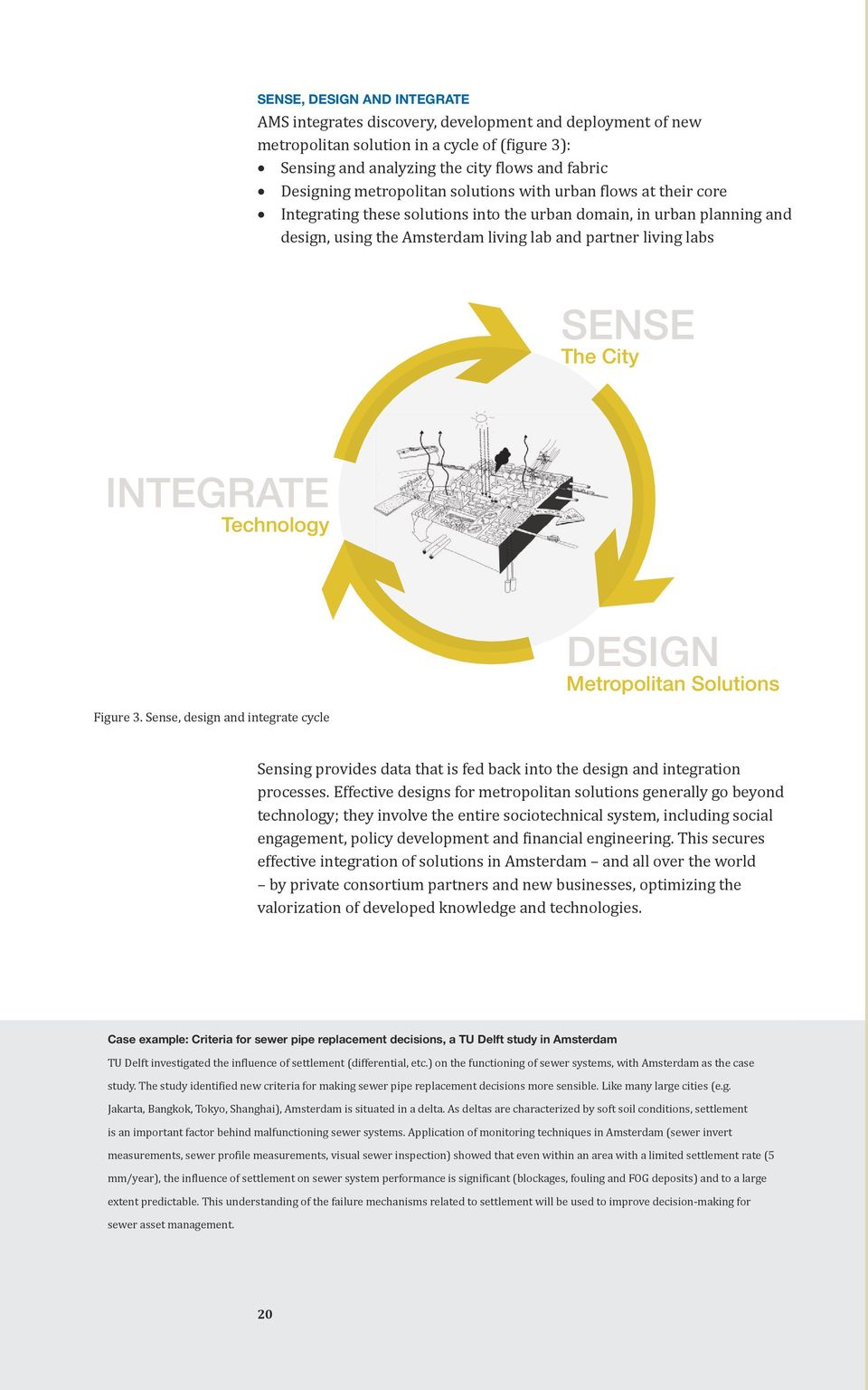 City INTEGRATE Technology Figure 3. Sense, design and integrate cycle DESIGN Metropolitan Solutions Sensing provides data that is fed back into the design and integration processes.