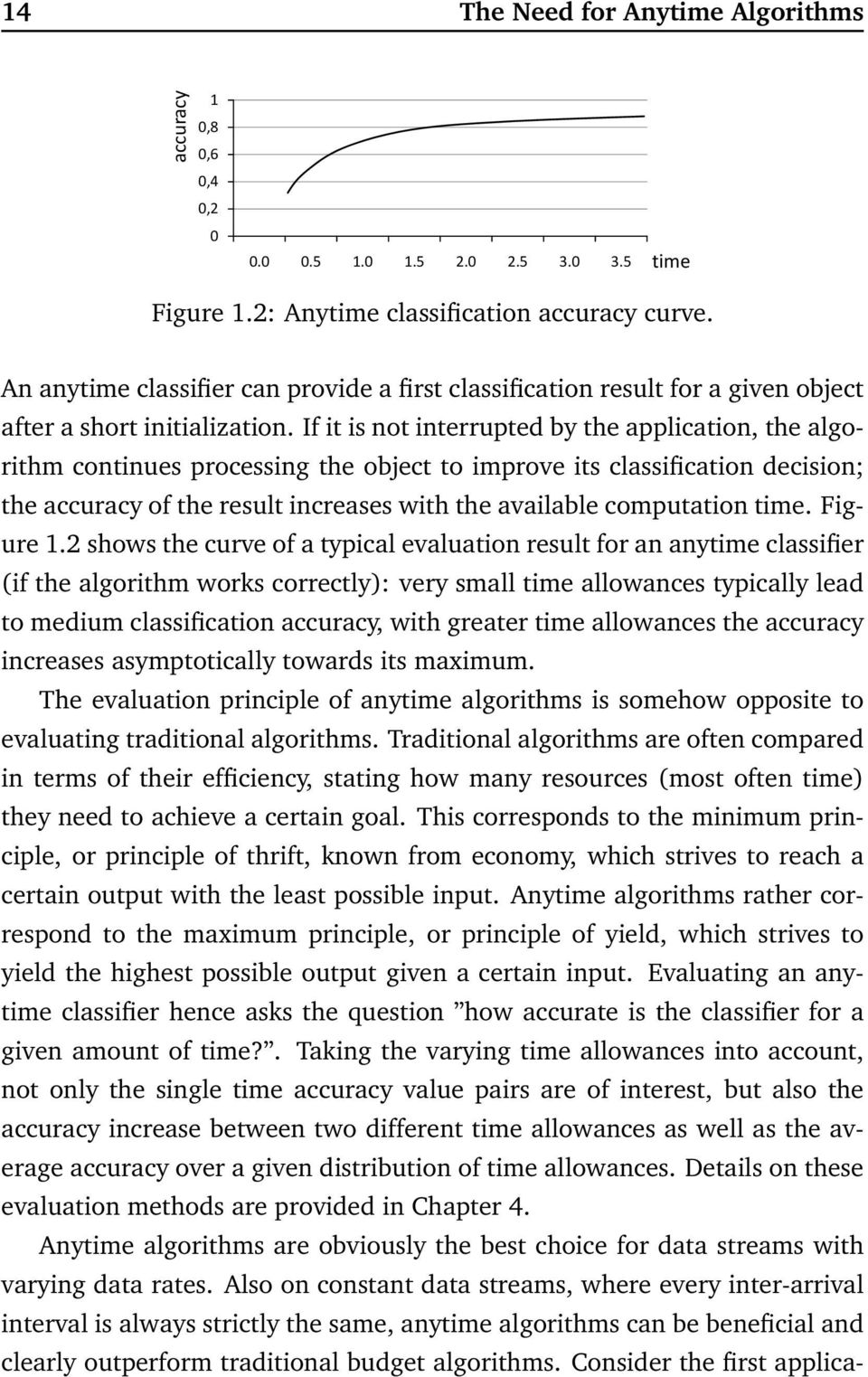 If it is not interrupted by the application, the algorithm continues processing the object to improve its classification decision; the accuracy of the result increases with the available computation