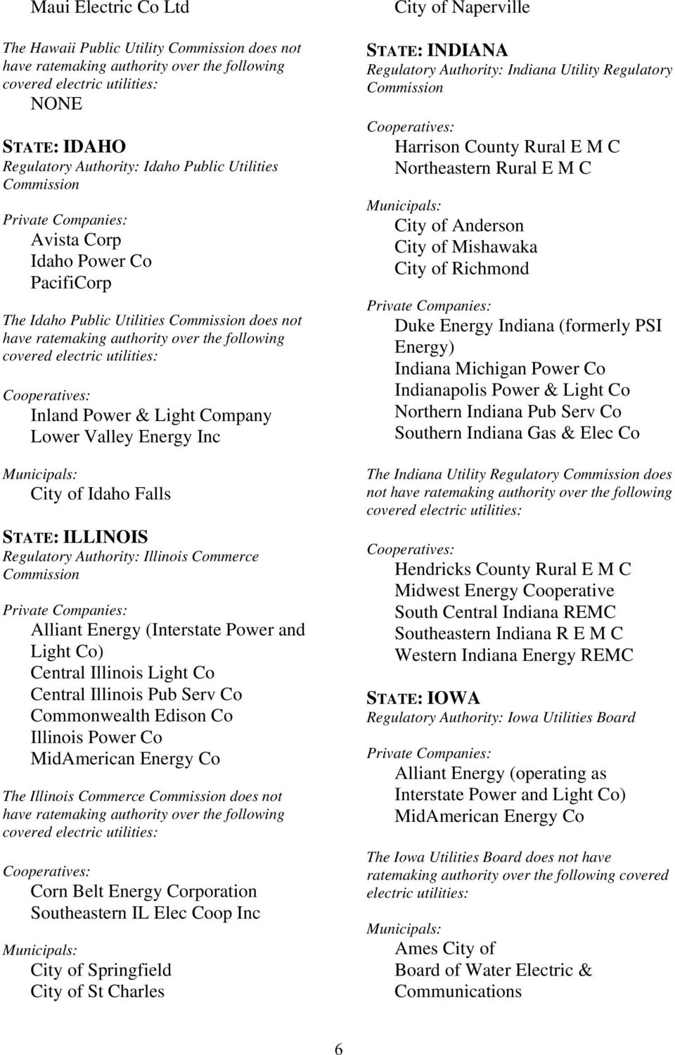 Central Illinois Pub Serv Co Commonwealth Edison Co Illinois Power Co MidAmerican Energy Co The Illinois Commerce does not Corn Belt Energy Corporation Southeastern IL Elec Coop Inc City of