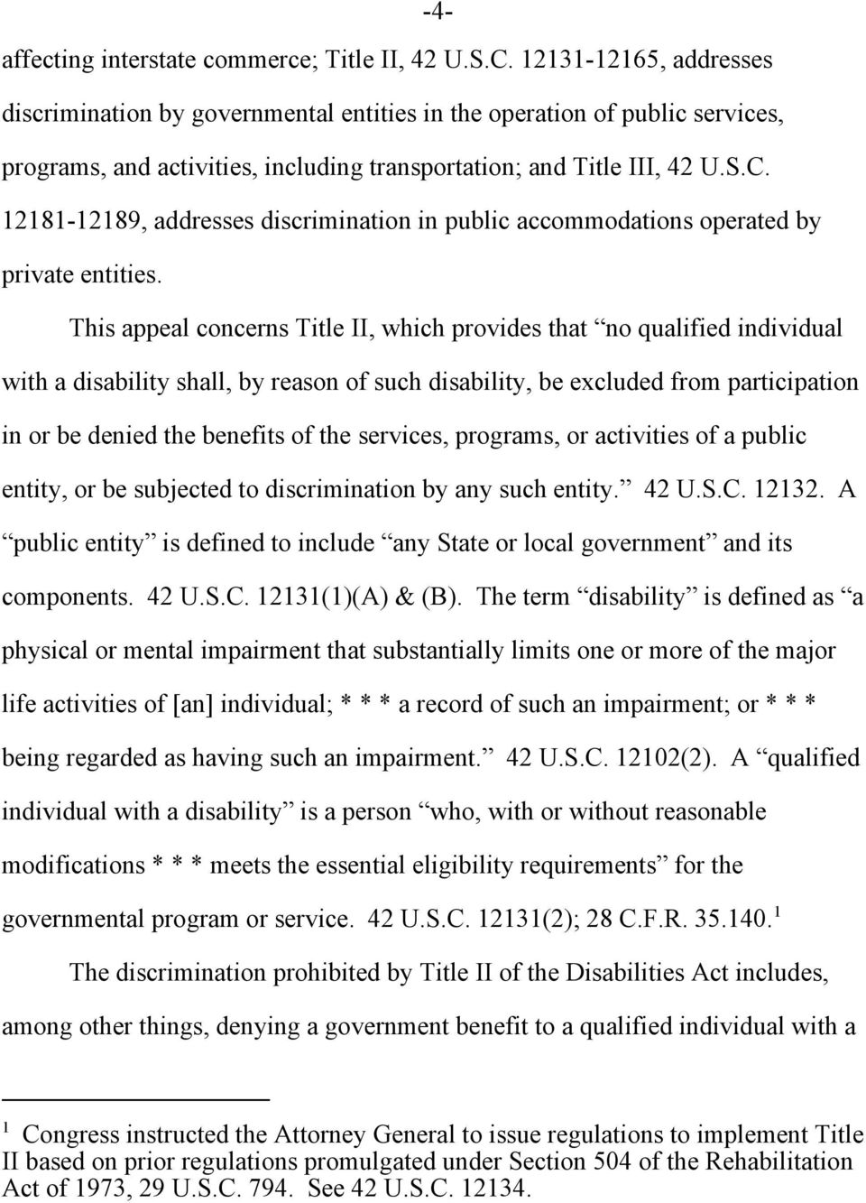12181-12189, addresses discrimination in public accommodations operated by private entities.