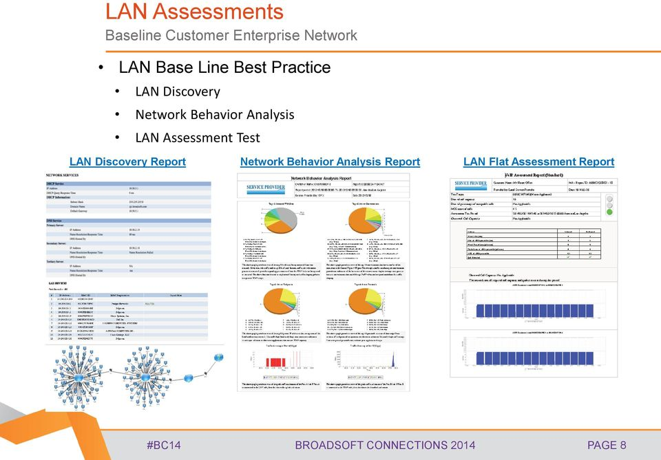 Assessment Test LAN Discovery Report Network Behavior Analysis