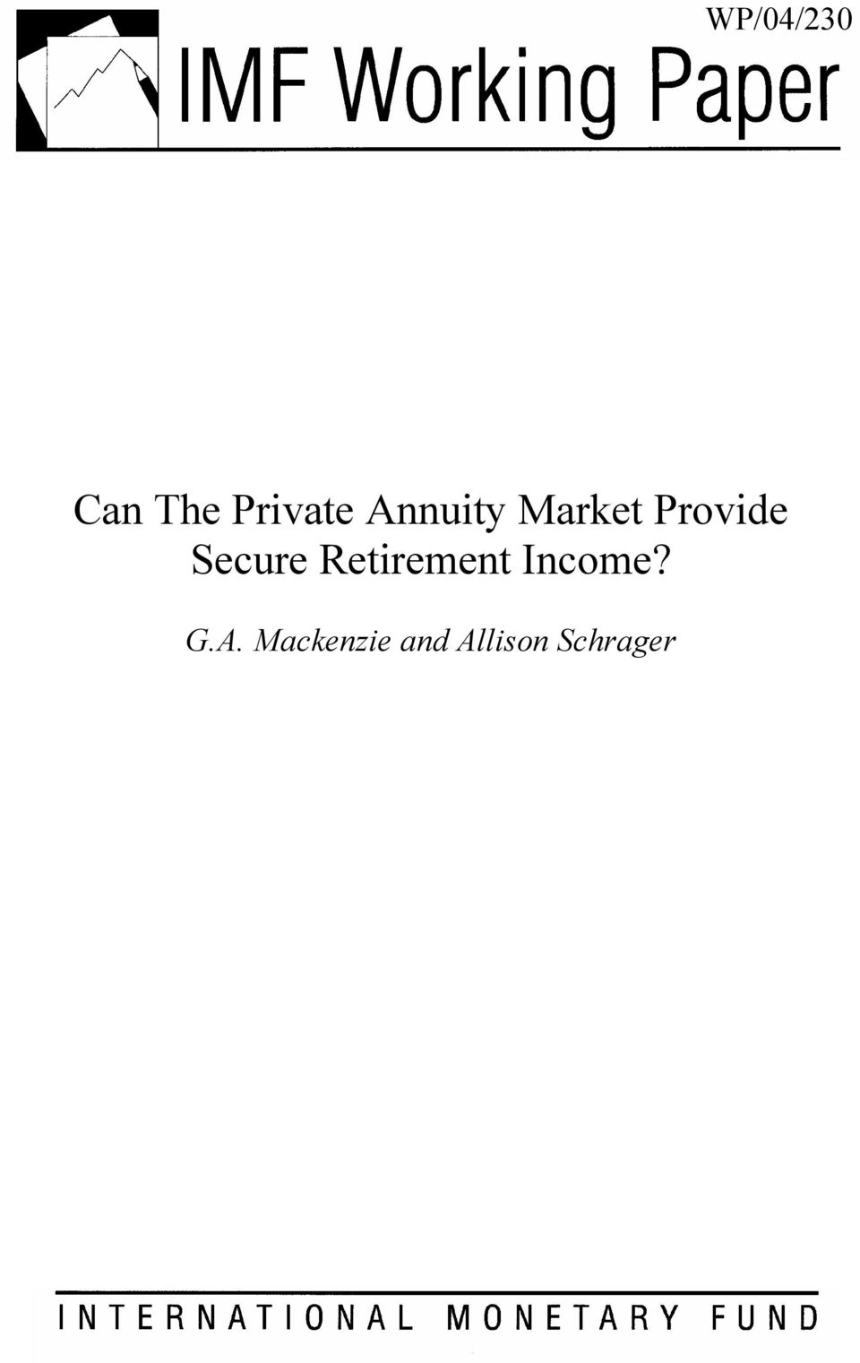 Secure Retirement Income? G.