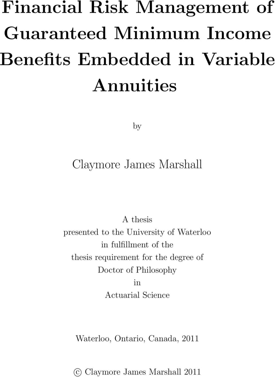 claymore marshall thesis