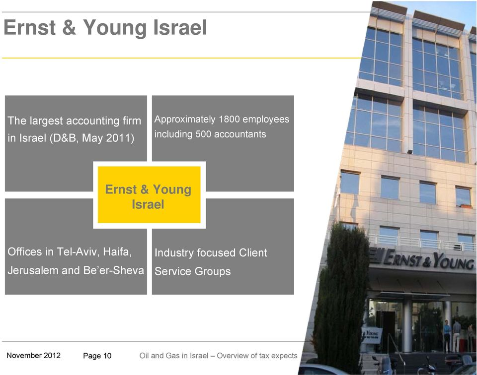 accountants Ernst & Young Israel Offices in Tel-Aviv, Haifa,
