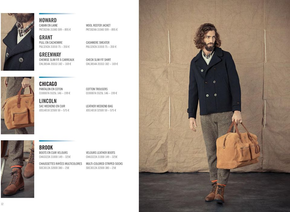 LINCOLN SAC WEEKEND EN CUIR JOS14018 32500 50 575 COTTON TROUSERS CI30007A 5525L 146 199 LEATHER WEEKEND BAG JOS14018 32500 50 575 BROOK BOOTS EN CUIR VELOURS