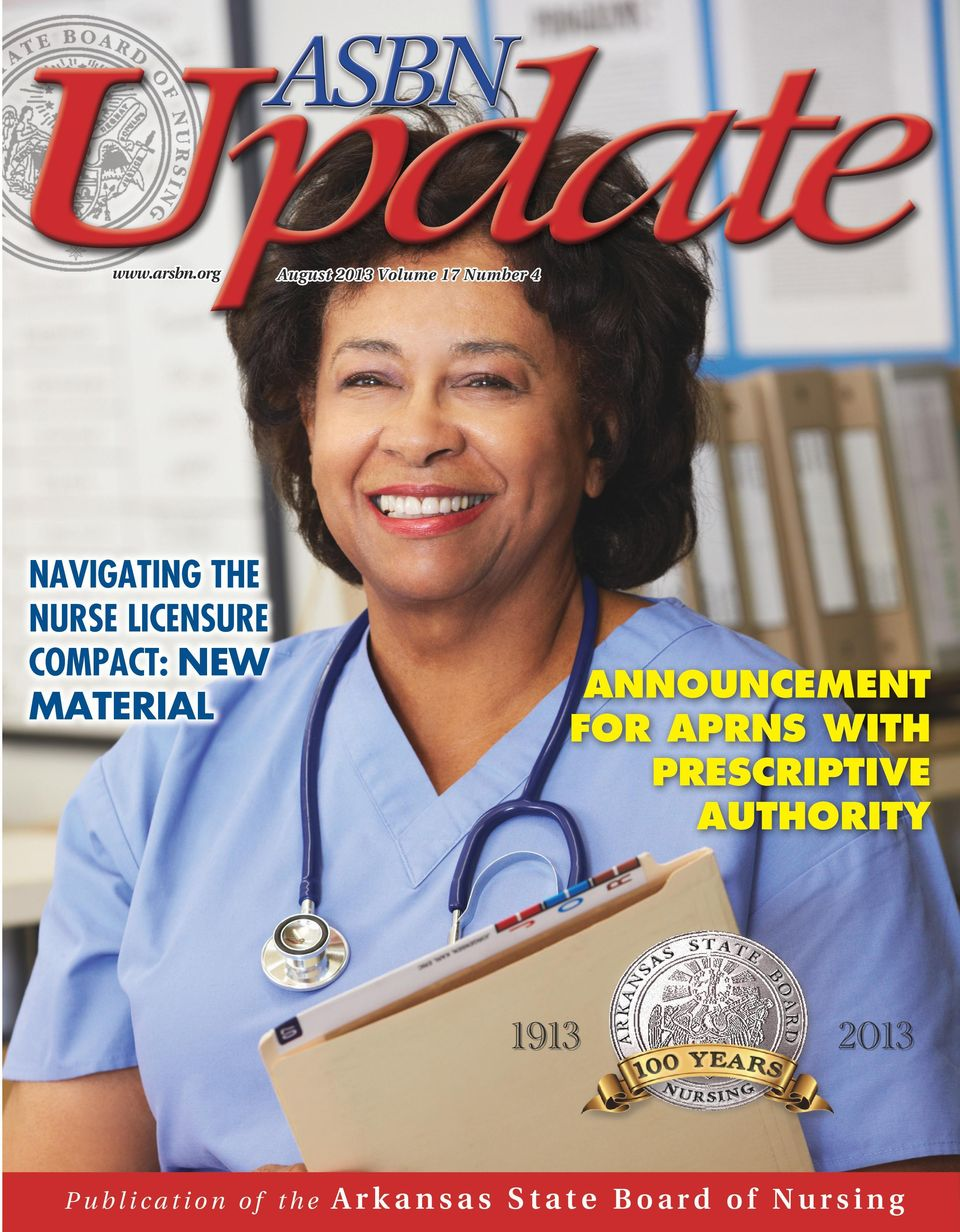 NURSE LICENSURE COMPACT: NEW MATERIAL ANNOUNCEMENT