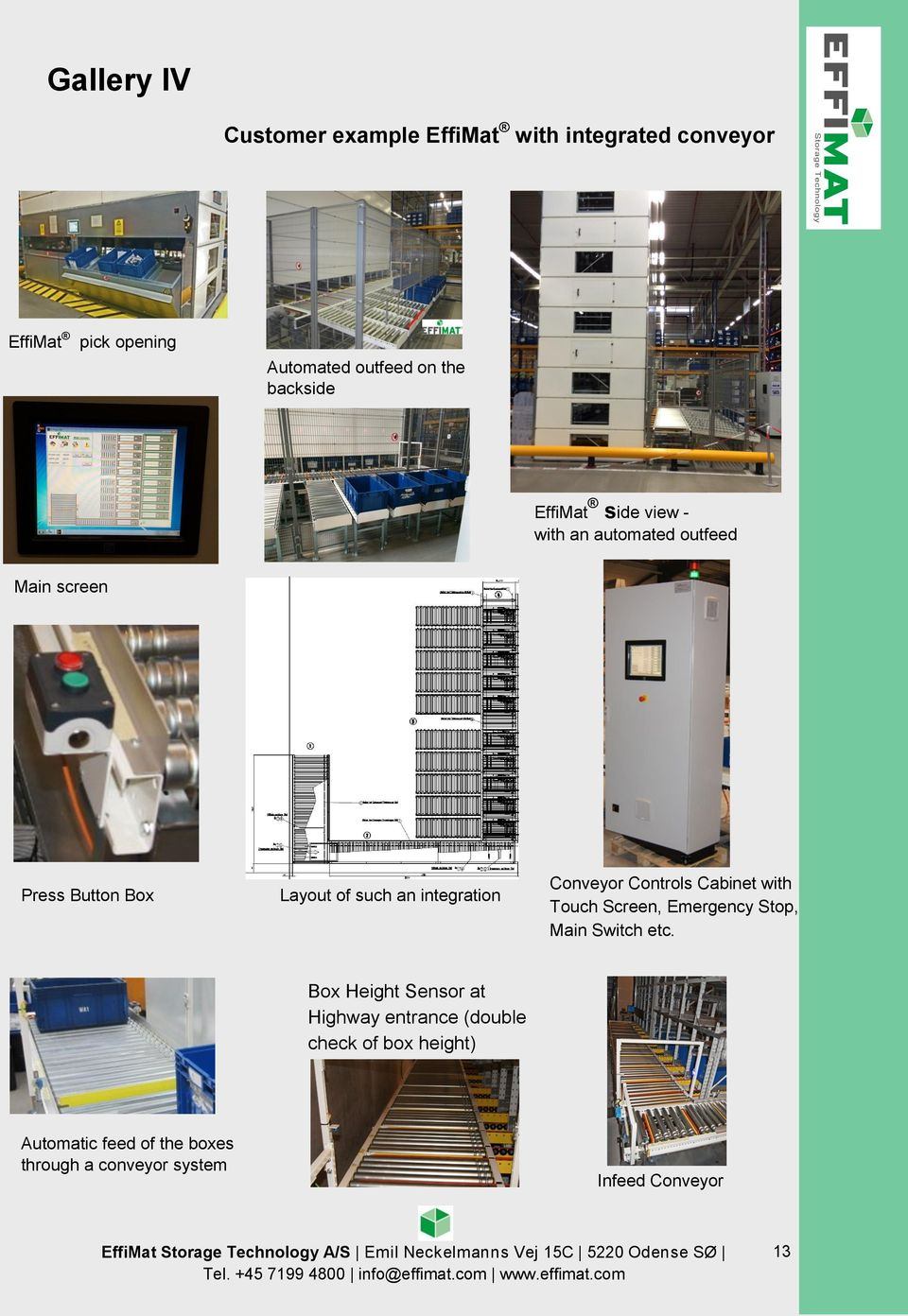 integration Conveyor Controls Cabinet with Touch Screen, Emergency Stop, Main Switch etc.