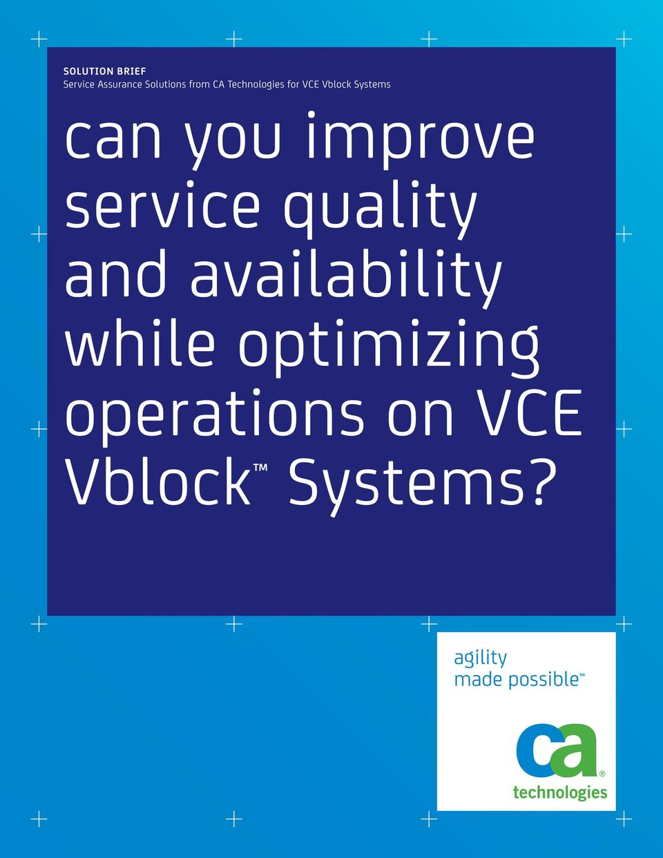 service quality and availability while optimizing